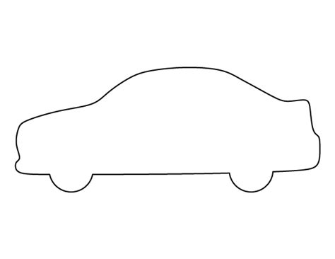 Car Outline Templates car pattern use the printable outline for crafts