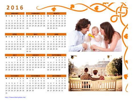 2016 Photo Calendars Photography Calendar Template