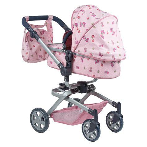 baby doll pram roma twirl pink dolls pram free uk delivery