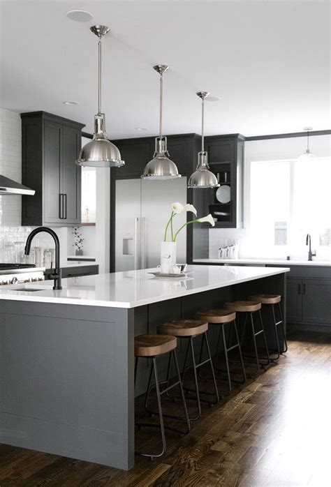 black island kitchen best 25 grey kitchen island ideas on gray