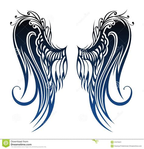 wings tattoo design stock image image 31679421