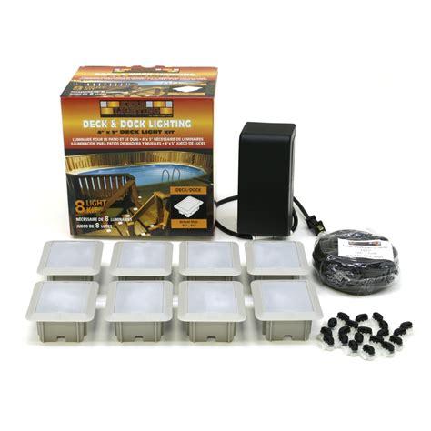 Landscape Light Kit Shop Kerr Lighting 8 Light White Low Voltage Deck Lights