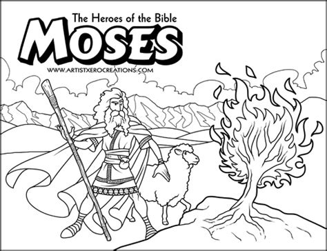 baby moses coloring page moses coloring pages moses