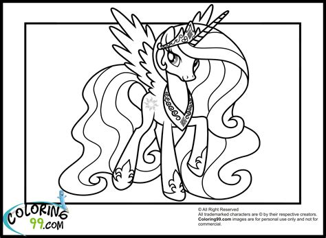 pony princess celestia coloring pages minister coloring