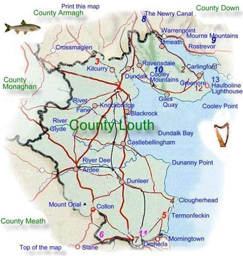 County Louth Ireland Birth Records Louth Ireland Map