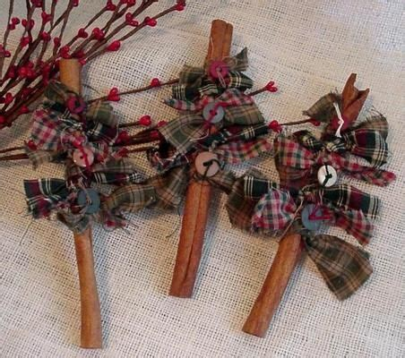 handmade primitive christmas ornaments diy projects