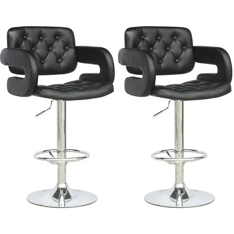 leather bar stools with backs and arms furniture black tufted leather bar stools with arms and