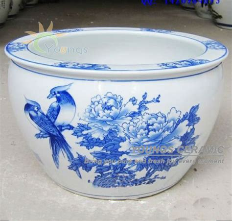 Blue And White Planters Large by Large Chinease Blue And White Ceramic Decorative Planters