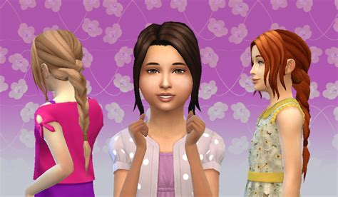 sims 4 child hair cc my stuff simplicity hair for girls hair kids