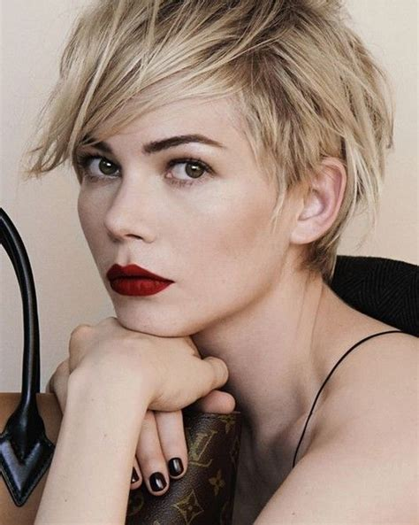 k mitchell short hairstyles with a soft bang celebrity short pixie cut trends 2014 cute short cut with