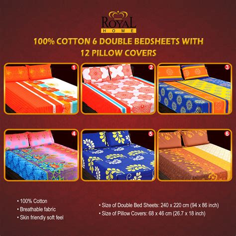 bedsheets buy bedsheets online at best prices in india buy 100 cotton 6 double bedsheets with 12 pillow covers