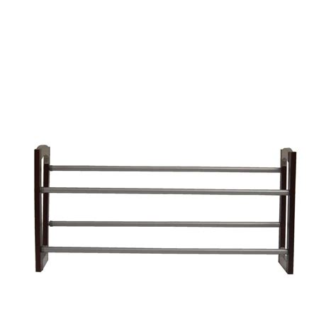 neu home 2 tier expandable shoe rack in espresso 10731
