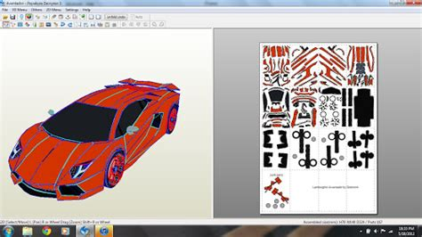 Papercraft Lamborghini - the gallery for gt papercraft lamborghini aventador