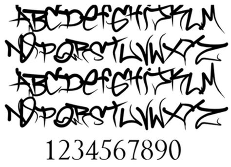 tattoo fonts a z cool graffiti fonts sketches wild style fonts