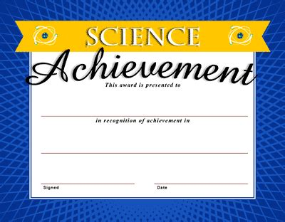 science certificate template certificate templates clipart best