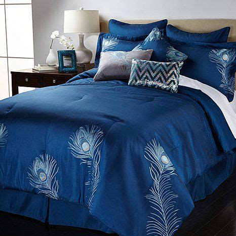 shop vern yip home embroidered peacock 9 piece comforter