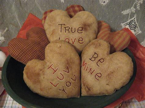 primitive valentines primitive conversation hearts muslin and