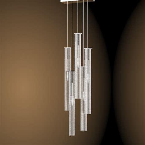 Contemporary Glass Chandelier 3d Solzi Luce Modern