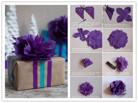 Box Tissue Flower 3d diy tissue paper flower topper tutorial diy tag