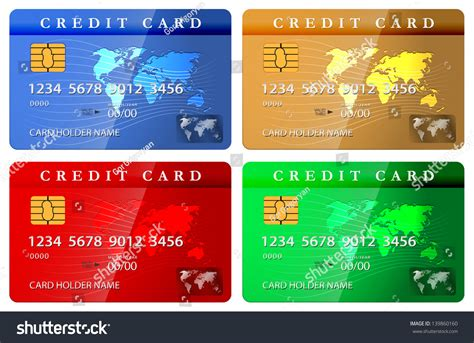 Debit Card Design Template by 4 Color Credit Or Debit Card Design Template Stock Photo