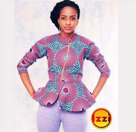 peplum ankara tops images african print classy peplum top african top african