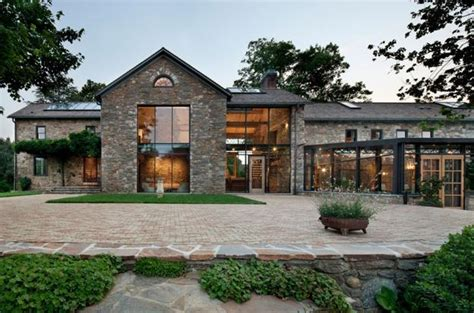 modern house in country modern redesign of old country home with antique stone