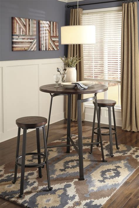 dining room pub tables challiman round dining room bar table 2 stools d307 12