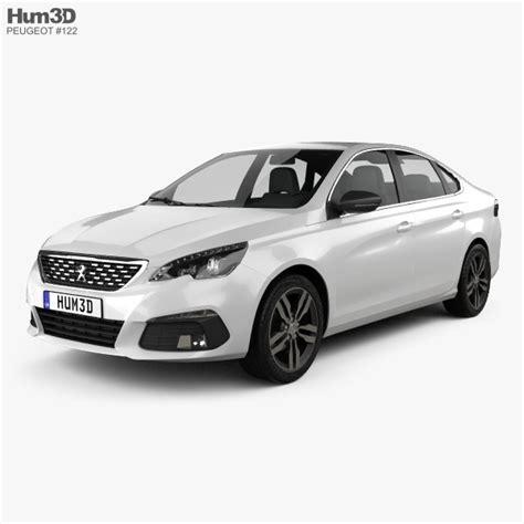 peugeot sedan 2017 peugeot 308 sedan 2017 3d model hum3d