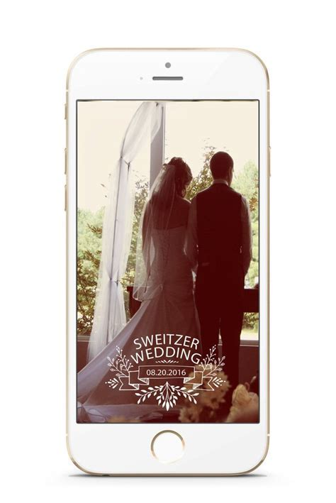 SNAPCHAT GEOFILTER Wedding Wedding filter Personalized