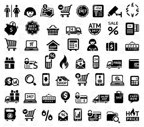 eps format free download shopping icons royalty free vector clip art image 33079