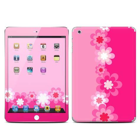Designer Ipad Case retro pink flowers apple ipad mini skin covers apple