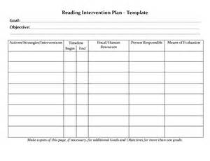 rti template student planner templates reading intervention plan