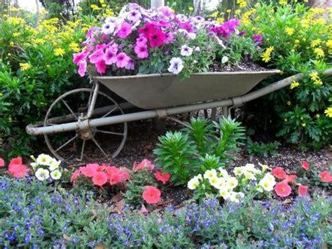 Wheelbarrow Garden Ideas Best 25 Wheelbarrow Garden Ideas On Wheelbarrow Decor Wheelbarrow Planter And