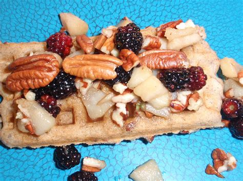 fruit waffles waffles with fruit and nut sauce recipe all recipes