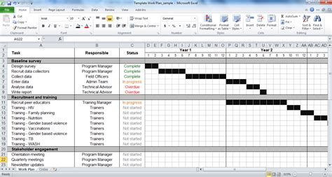 project work plan template work plan template tools4dev