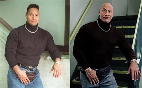 dwayne the rock johnson then and now then vs now dwayne the rock johnson shares throwback