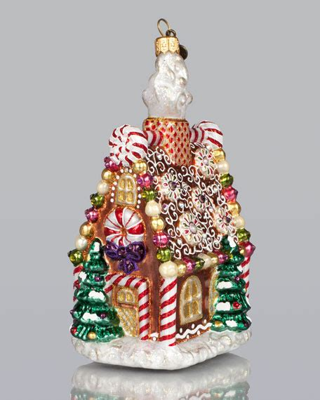 jay strongwater gingerbread house christmas ornament