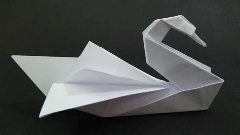 Swan Paper Folding - origami swan intermediate how to make it