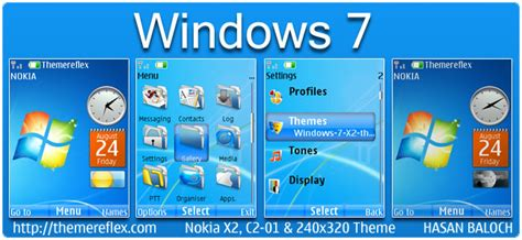 nokia 5130 themes windows vista windows 7 live theme for nokia x2 c2 01 240 215 320