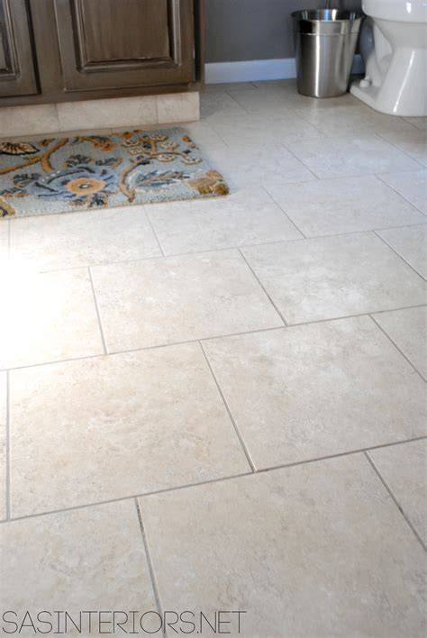 groutable vinyl tile in bathroom 5 ways to update a bathroom on a budget jenna burger