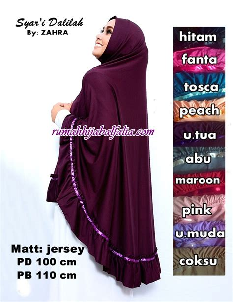 Jilbab Syari jilbab syari model terbaru dalilah by zahra rumah