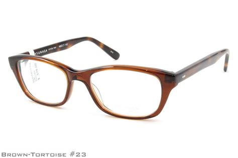 Barrel Eyeglasses Brown masunaga 035 48 17 brown tortoise glasses