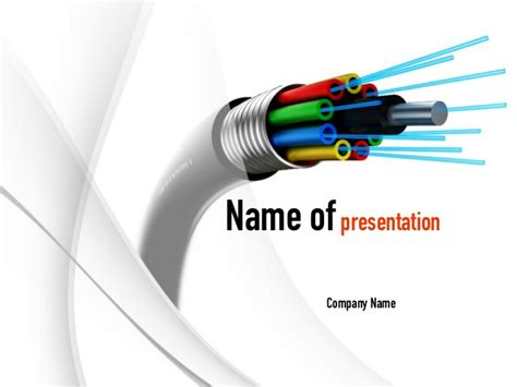ppt templates free download electrical fiber optic cable powerpoint template