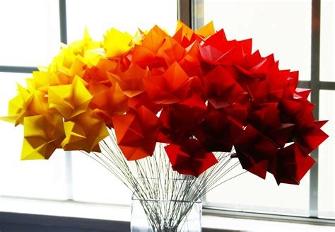 Origami Centerpieces - fall wedding flowers bouquets and centerpieces origami