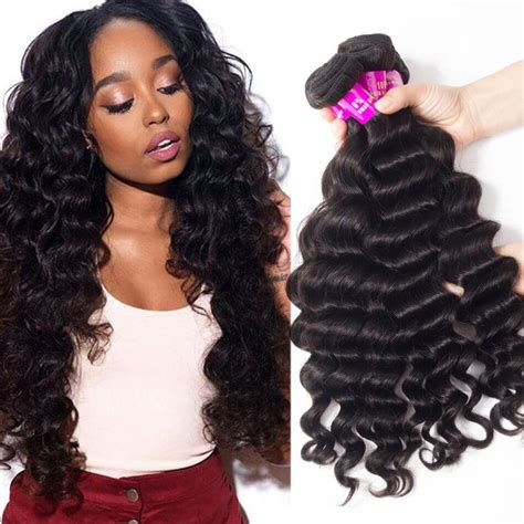loose deep wavy hair photo malaysian hair loose deep wave 4 bundles tinashehair