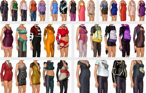 sims 3 basegame clothes and hair my sims 3 blog all hidden base game showtime maternity