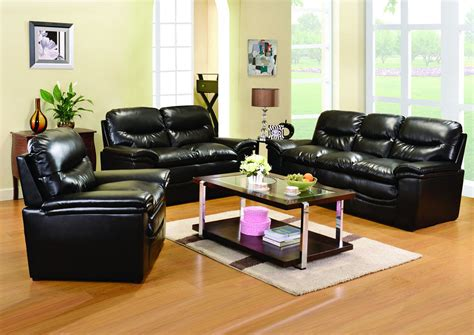 geneva black bonded leather casual living room set furniture zone black bonded leather sofa loveseat