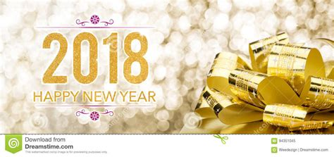 new year gift set 2018 happy new year 2018 with golden gift box with big bow at