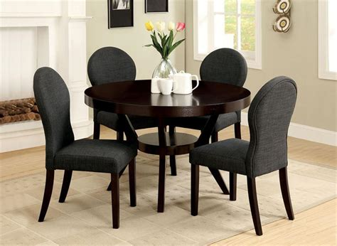 Round Dining Room Tables For 4 by Elegant Dining Room Design With Round Deep Espresso Open