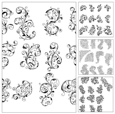 ornate pattern vector set